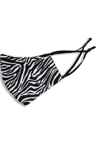 back_Non-medical Zebra Print Reusable Face Mask