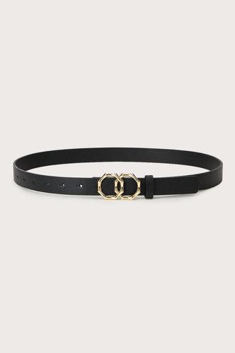 back_Edwina Elaine Black  Double Ring Decor Belt