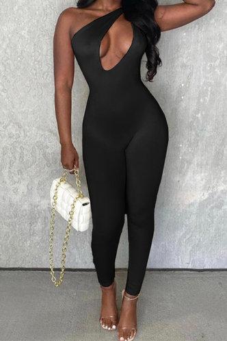back_Grace Herb Black Jumpsuit