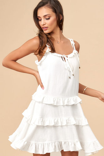 front_Sunshine Ivory Mini Dress