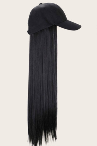 front_Angela Elsie Black Long Straight Wig With Cap