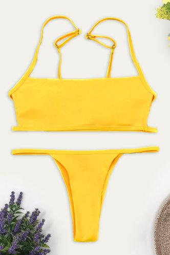 back_Nadine Edith Yellow Bikini