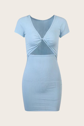 back_Eva Elsa Baby Blue Cutout Bodycon Dress