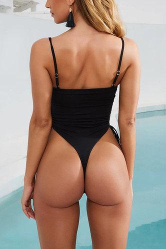 back_Karin Eileen Black One-Piece Swimsuit