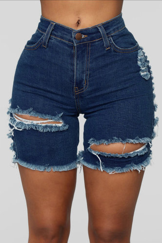 back_Marina Edith Blue Denim Ripped Shorts