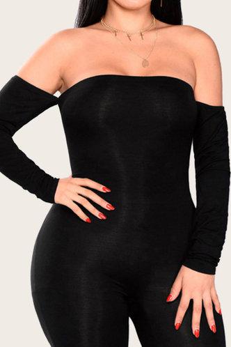 back_Gill Jhurnal Black Plus Jumpsuit