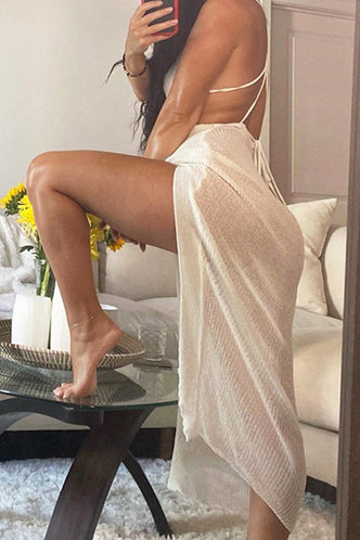 back_Noah Emma White Lace Up Open Back Mesh Dress