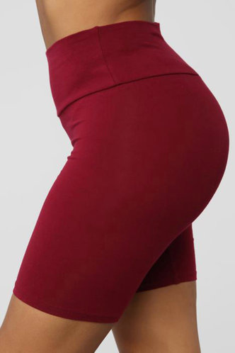 back_Agatha Elizabeth Red Wine Biker Shorts