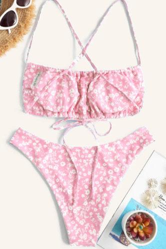 back_Patience Ella Pink Floral Print Bikini