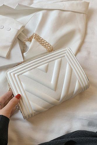 back_Evelyn Pentrist White Crossbody Bag