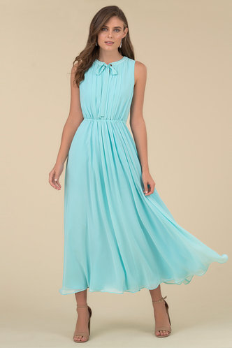 front_Serenity Caribbean Blue Maxi Dress