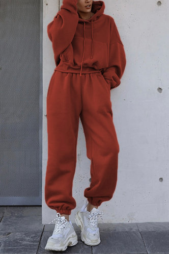 back_Karan Edwina Casual Rust Red Sweat Set
