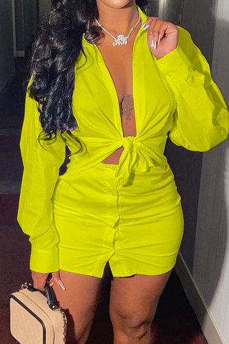 front_Colette Elsa Lemon Yellow Set