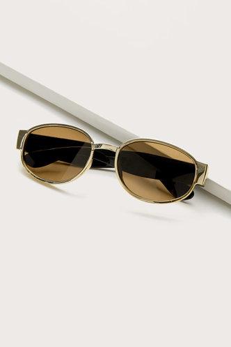 front_Tanya Elizabeth Brown Acrylic Frame Sunglasses