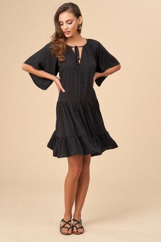 front_Beach Vibes Black Mini Dress