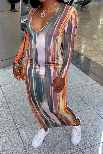 back_Gill Kanjas Tie Dye Plus Bodycon Dress