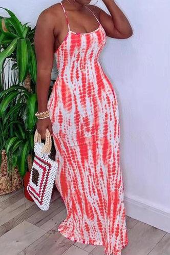 front_Caroline Ella Coral Tie Dye Cami Dress