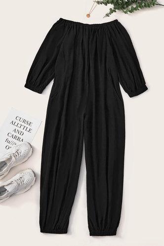 back_Catherina Eunice Black Plus Size Jumpsuit