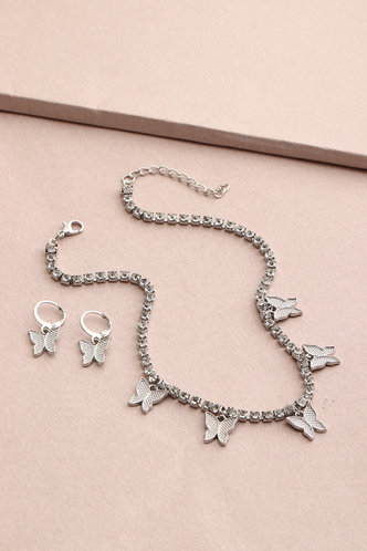 front_Chain Butterfly Silver Sets