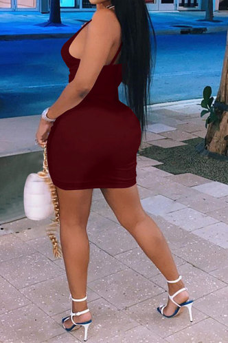 back_Shopping Vacation Party Sleeveless Red Wine Dresses