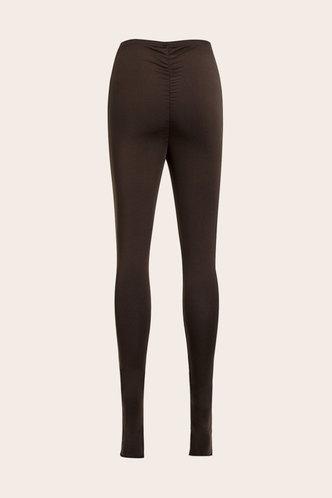 back_Madeline Eartha Dark Brown Leggings