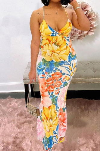 front_Bea Emily Floral Print Bodycon Cami Dress