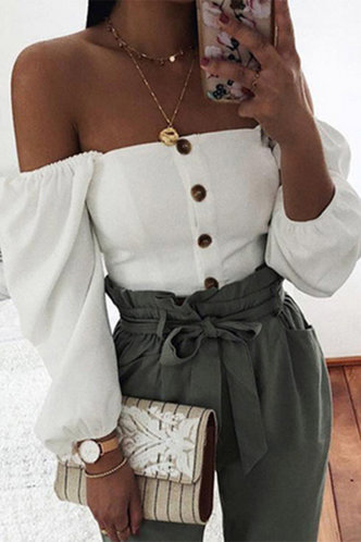 front_Joyce Eve White Off Shoulder Blouse