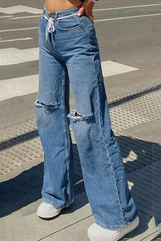 front_Kelley Blue Ropped Knee Jeans