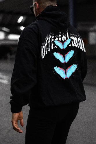 front_Casual  Black Men Sweatshirts & Hoodies