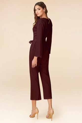 back_Love and Affection Cabernet Jumpsuit