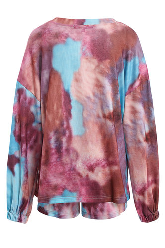 back_Blooming Kiss {Color} Tie Dye PJ Set