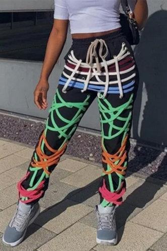 back_Donna Karlan Multicolor Pants