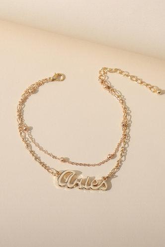back_Erin Marist Gold Constellation Letter Charm Anklet