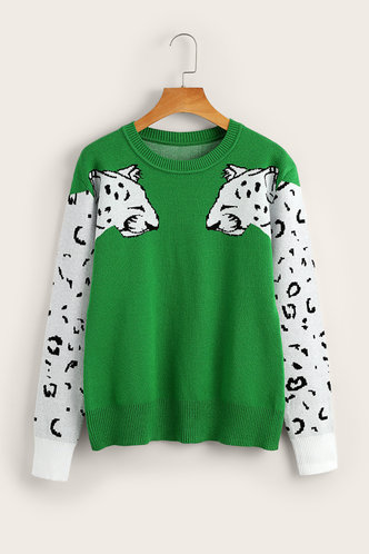 back_Millicent Elaine Green Sweater