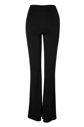 front_Girl's Got Flare Black Flare Hem Pants