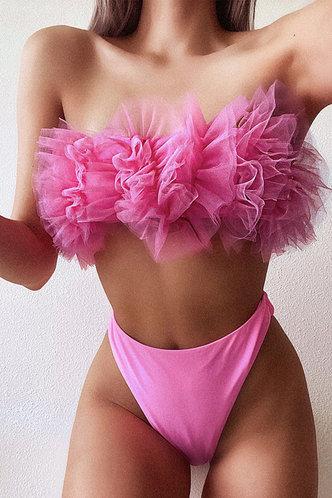 front_Carlotta Pink Ruffle Bikini