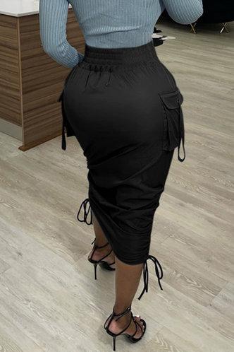 back_Catharine Emily Black Ruched Skirt