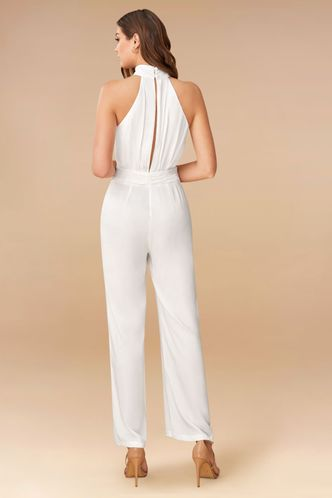 back_Posh White Jumpsuit