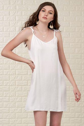 front_Warm Daze White Mini Dress