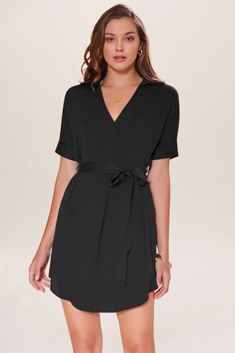 front_Creative Black Mini Dress