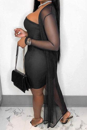 back_Plain  Black Mini Dresses
