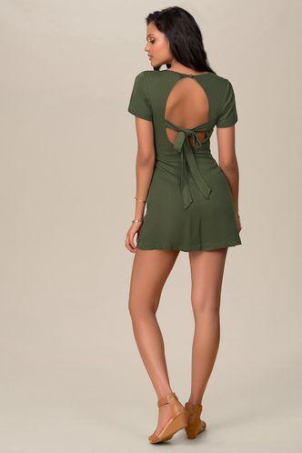 back_Way We Love Army Green Mini Dress