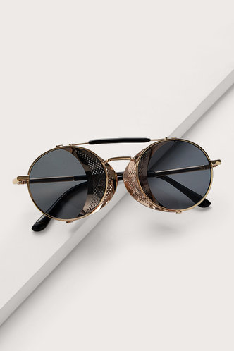 back_Sue Elsa Grey Metal Frame Sunglasses