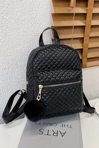 front_Queena Eudora Black Bagpack