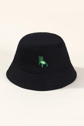 front_Ileana Elma Black Bucket Hat