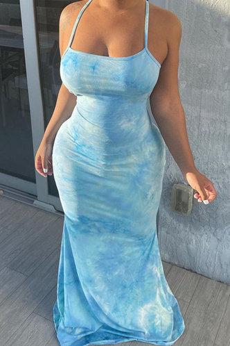 back_Deane Elma Sky Blue Halter Bodycon Dress