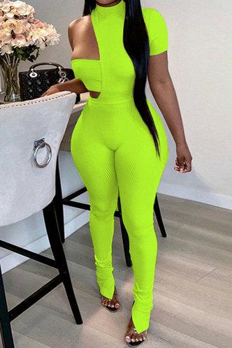 front_Michaela Elma Lime Yellow Jumpsuit