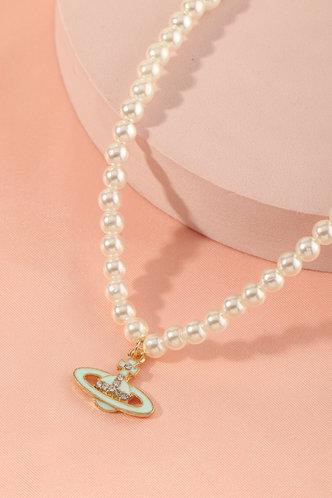 back_Carmelita Elvira White Beaded Necklace 1pc