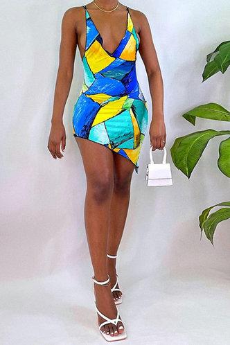 back_Thera Elma Blue Geo Print Bodyocn Cami Dress