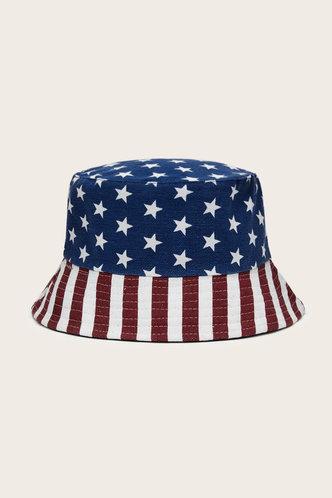 front_Kelly Emma Flag Print Bucket Hat